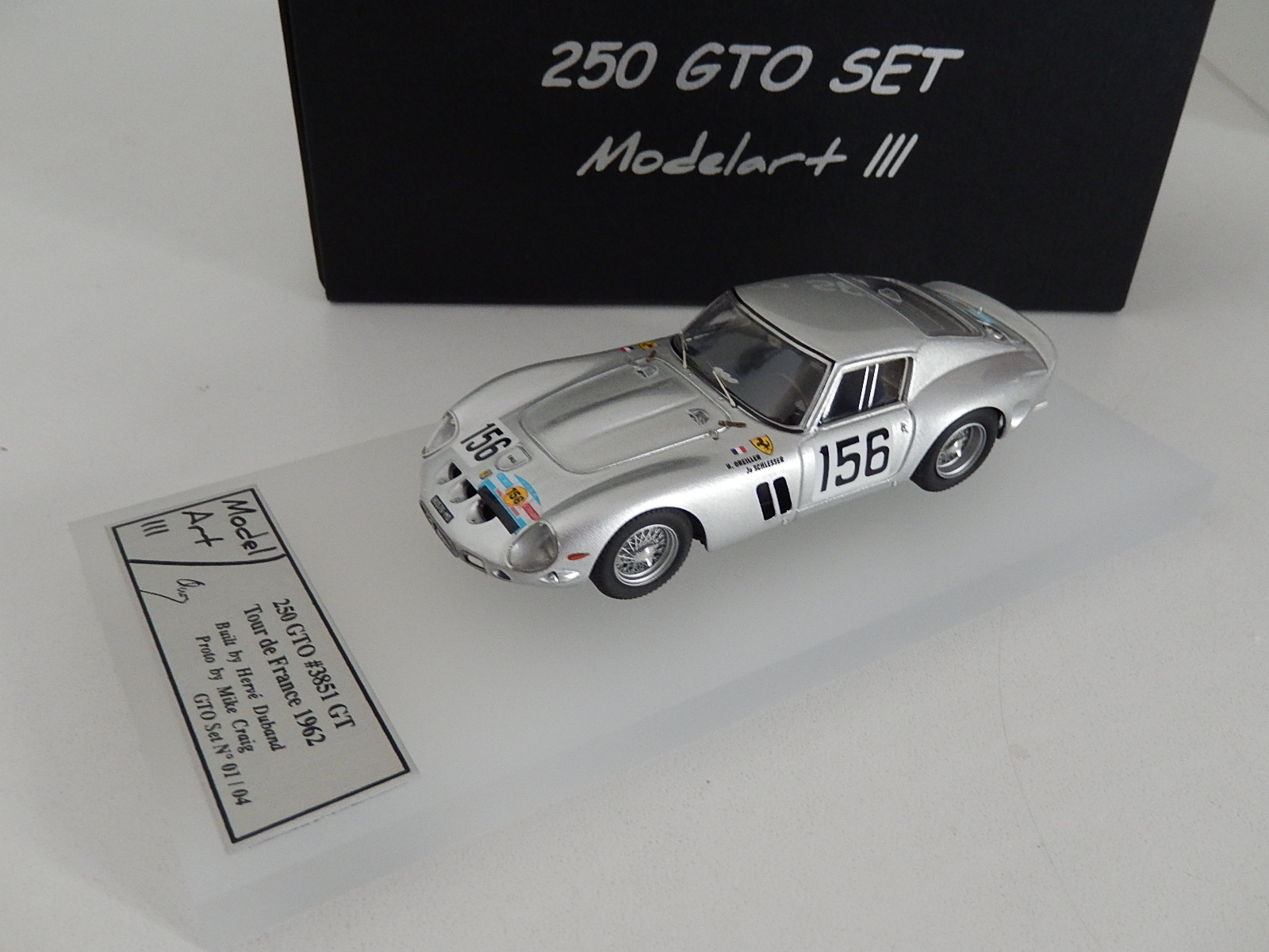 Modelart111 250 GTO Set : #3851 Tour de France 1962